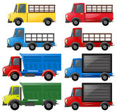 Different kinds of trucks Royalty Free Stock Photography