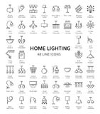 Different kinds of wall, ceiling, table and floor lamps. Modern. Different kinds of wall, ceiling, table and floor lamps. Home lighting. Modern light fixtures vector illustration