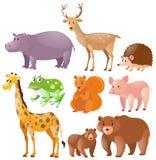 Different kinds of wild animals. Illustration vector illustration