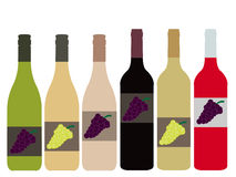 Different Kinds of Wine Bottles Royalty Free Stock Photo