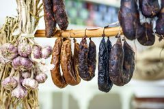 Different kinds of wurst Stock Photos