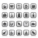 Different king of food and drinks icons 1. Vector icon set Royalty Free Stock Image