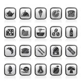 Different king of food and drinks icons 2 Stock Photography