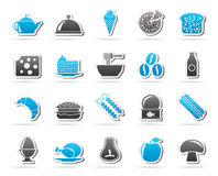 Different king of food and drinks icons 2 Royalty Free Stock Image