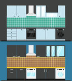 Different kitchen composition Stock Images