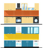 Different kitchen composition Royalty Free Stock Photos