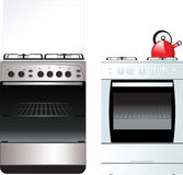 Different Kitchen Stove vector illustration