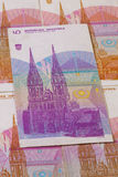 Different Kuna  banknotes from Croatia Stock Image