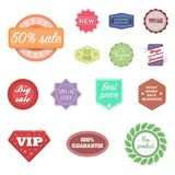 Different label cartoon icons in set collection for design. Index and brand vector symbol stock web illustration. Royalty Free Stock Photography