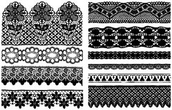 Different lace materials. Stock Image