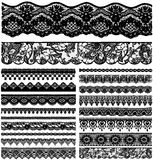 Different lace strips. Royalty Free Stock Photo