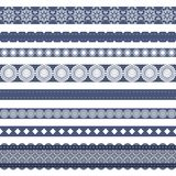 different lace strips on white background Stock Photo