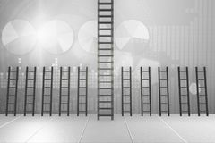 The different ladders in career progression concept Royalty Free Stock Images