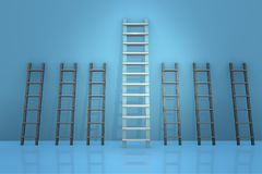 The different ladders in career progression concept Stock Image