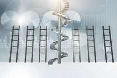 The different ladders in career progression concept Stock Photography