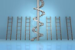 The different ladders in career progression concept - 3d rendering Royalty Free Stock Photos