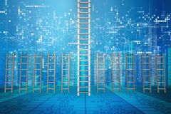 The different ladders in career progression concept Stock Photo