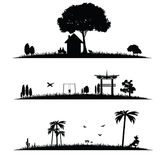 Different landscape vector illustration. On a white Royalty Free Stock Images