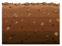Different layers of soil Royalty Free Stock Image