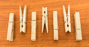 Different Layout of Clothespins with Up and Down Pattern Royalty Free Stock Photography