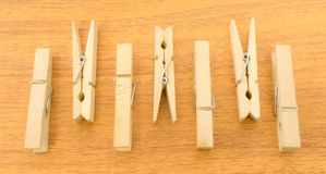 Different Layout of Clothespins with Up and Down Pattern Royalty Free Stock Image