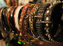 Different collars for sale Royalty Free Stock Photo