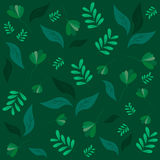 Different leaves on a dark green. Vector pattern. Different leaves on a dark green background Royalty Free Stock Images