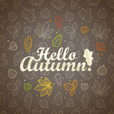 Different leaves silhouettes autumn concept Royalty Free Stock Photography