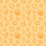 Different leaves silhouettes seamless pattern Royalty Free Stock Photography