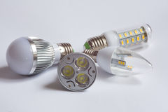 Different Led Lamps. The new generation of lamps. Economical and environmentally friendly Stock Images