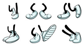 Different legs with shoe royalty free illustration