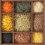 Different lentils stock image