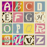 Different letters Royalty Free Stock Photo