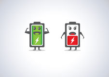 Different level of battery illustration. Stock Images