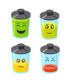 Different level of battery illustration Royalty Free Stock Photography