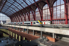 Different levels of the Antwerp Railway Station Stock Image