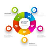 5 different levels, colorful Pie Chart Infographic Elements. 5 different levels, colorful Pie Chart Infographic Elements for business layouts and success Royalty Free Stock Photo