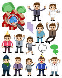 Different Lifestyle Cartoon People Illustration royalty free illustration