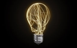 Different light bulb Stock Images