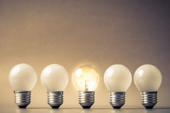 Different light bulb Royalty Free Stock Photo