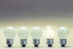Different Light Bulb Royalty Free Stock Photography