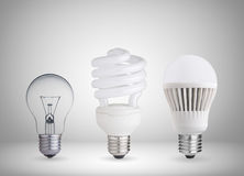 Different light bulbs Royalty Free Stock Images
