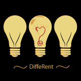Different lightbulb Stock Photo