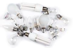 Different lightbulbs Stock Photos