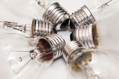 Different lightbulbs Stock Photo