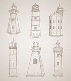 Different lighthouses set Stock Image
