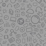 Different line style icons seamless pattern Stock Images