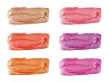 Different lip glosses Stock Photo