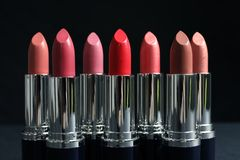 Free Different Lipsticks On Table Stock Photography - 137626072