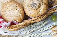 Different loafs of bread Stock Photography